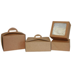 cake boxes brown