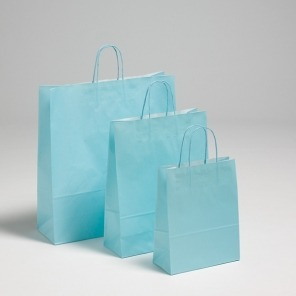 Bright Blue Twist Handle Carriers