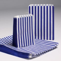 Blue Candy Stripe Bags