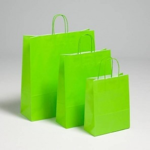 Bright Green Twist Handle Carriers