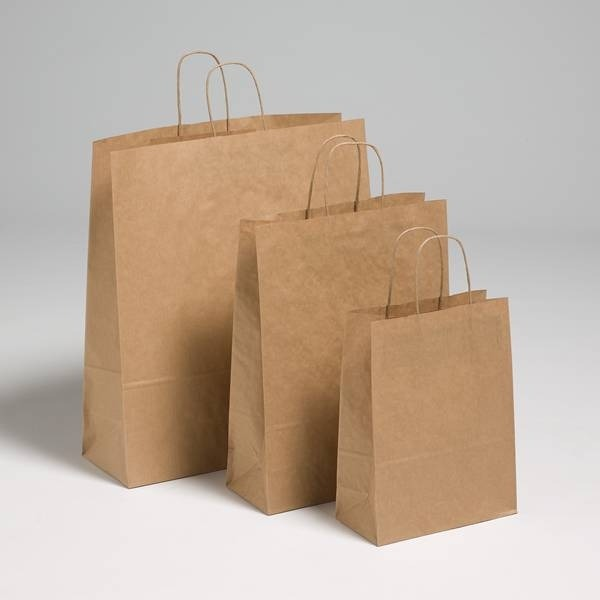Brown kraft paper carriers brown paper bags jj o toole ltd for Brown paper bag craft