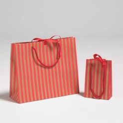 Red and Gold Stripe Luxury Carriers