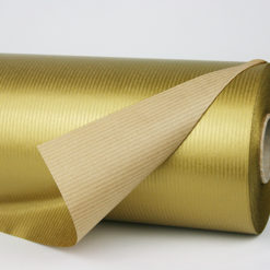Gold Ribbed Kraft Roll